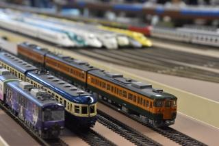 Railroad model diorama